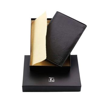 prix compétitif c022e 5c818 Portefeuille cuir noir - Portefeuille homme - 15x11 TK01 PACK cadeau  parfait pour Noël. une fête. un anniversaire