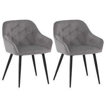 Lot de 2 chaises PRISMA pour salle à manger ou cuisine