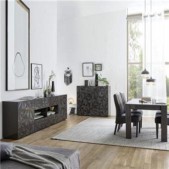 199€51 sur Salle à manger gris laqué enfilade + table design PAOLO 3 ...