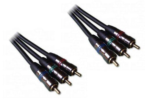 Cable 3 x RCA mâle / 3 x RCA mâle, Vidéo YUV, version Home Cinéma, 1m50
