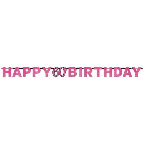 9900576 2.13 m Happy 18th Birthday Celebration prismatique Lettre Bannière