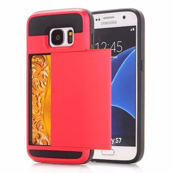 coque iphone 8 porte carte rouge