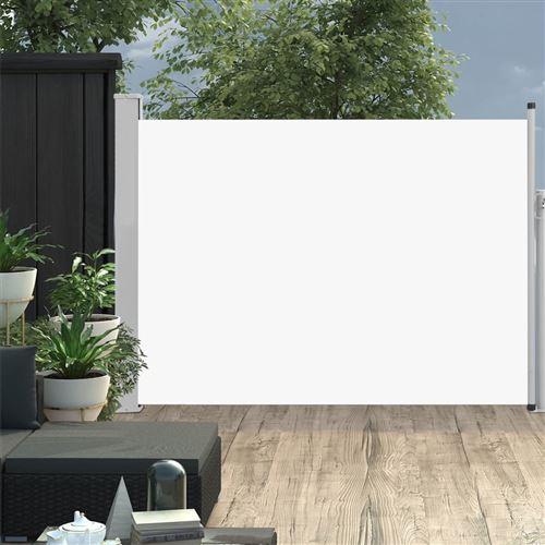 Auvent latéral rétractable de patio 120x500 cm Crème