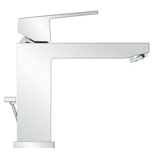 Mitigeur lavabo EUROCUBE bec medium - Chromé