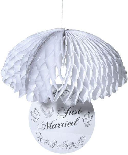 Parachute déco. just married 30 cm