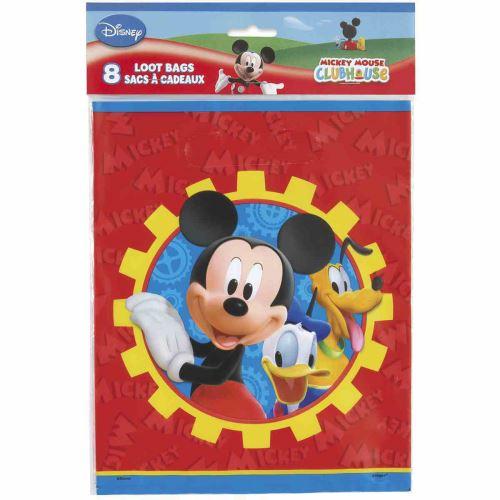 Mickey Mouse Clubhouse Sacs Cadeau en plastique [8 par paquet]