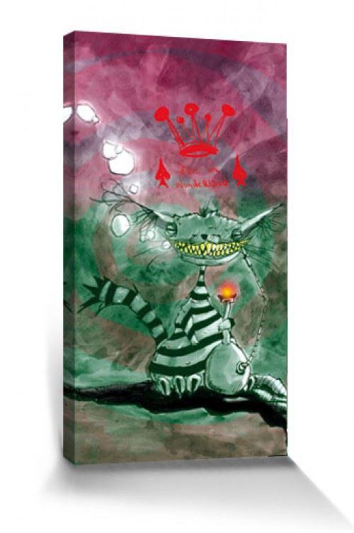Art Urbain Poster Reproduction Sur Toile, Tendue Sur Châssis - Chat De Chester Au Pays Des Merveilles, Marcus Merget (80x40 cm)