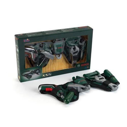 bricolage - etabli - outil bosch - ceinture a outils avec perceuse sans fil ixolino ii pour enfant