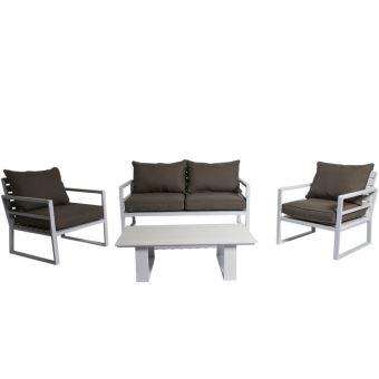 salon bas de jardin contemporain structure aluminium. Black Bedroom Furniture Sets. Home Design Ideas