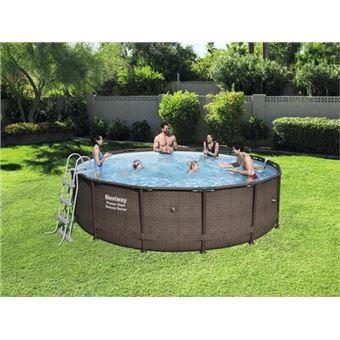 piscine tubulaire ronde bestway power steel deluxe series x m piscines hors sol. Black Bedroom Furniture Sets. Home Design Ideas