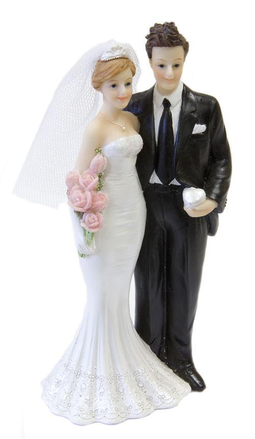 Couple mariés Alliances - 15 cm