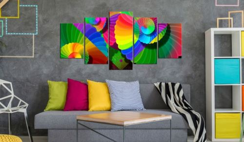 Tableau - Twisted Colours .Taille : 200x100