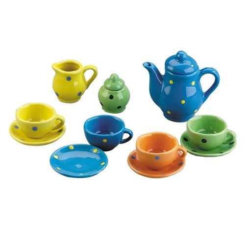 Happy People Service à thé en porcelaine 13 pièces
