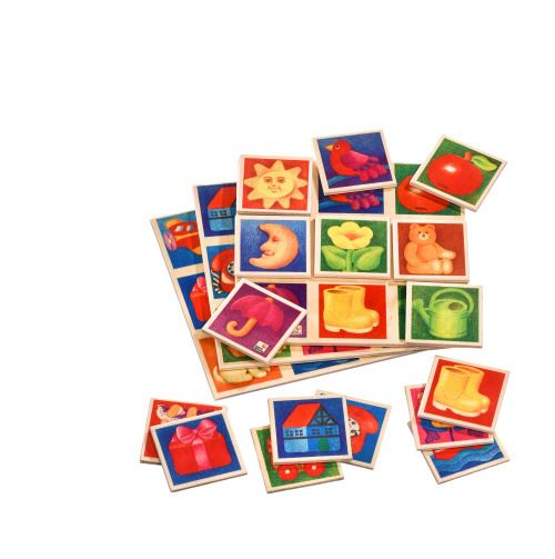 Selecta Spielzeug jeu de mémoire Beeldlotto junior 20 cm en bois 30 pièces