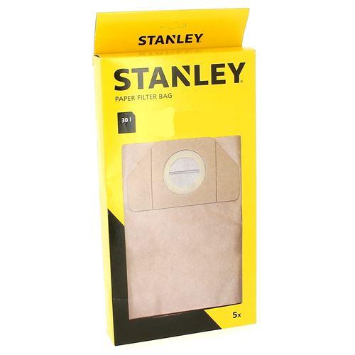 Sacs aspirateur par 5 30l pour Aspirateur Stanley