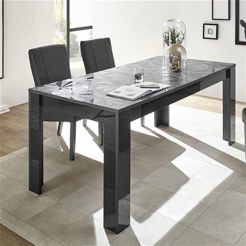 889€36 sur Salle à manger gris laqué buffet 3 portes + table 180 ...