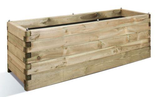 Jardinière en bois rectangulaire Oléa 150