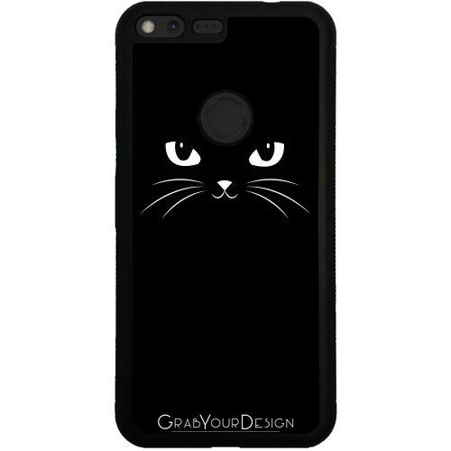 Coque Silicone Pour Google Pixel Chat Noir Mignon