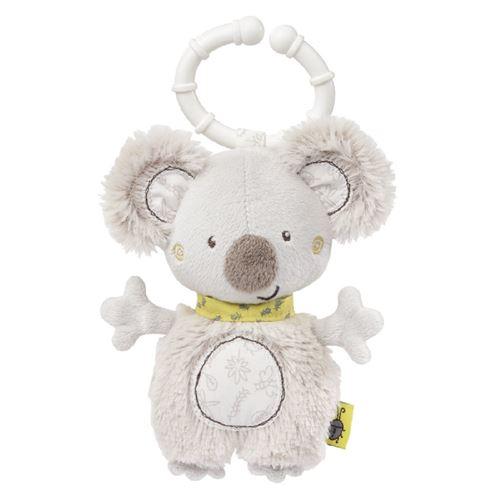 Fehn pendentif poussette/ hochet koala 14 cm blanc