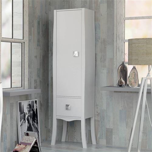Colonne de salle de bains laqué blanc 170 cm, Alcazar