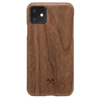 Coque pour iPhone 11 en bois veritable Noyer Woodceories EcoSlim