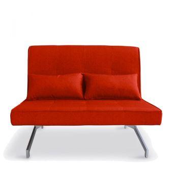 Couleur Marco Rouge 2 Places Canapé Bz Design Convertible wOymNn0v8