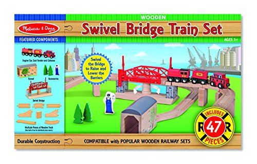 Melissa Doug Swivel Bridge Train Set