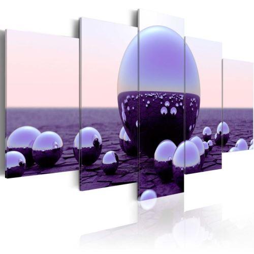 Tableau - Purple Balls .Taille : 100x50