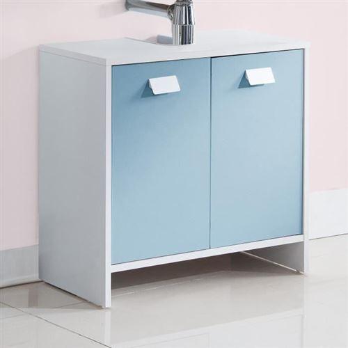 Paris Prix - Meuble Sous Lavabo octan 60cm Blanc & Bleu