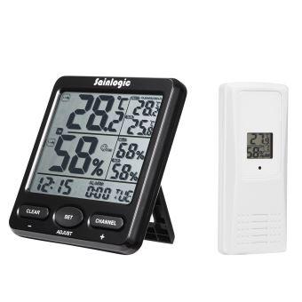 Station Météo sans fil, intérieur extérieur avec alarme Horloge et  calendrier, grand écran LCD - Station météo, thermomètre, pluviomètre -  Achat   prix   ... 5c10ad8805fc
