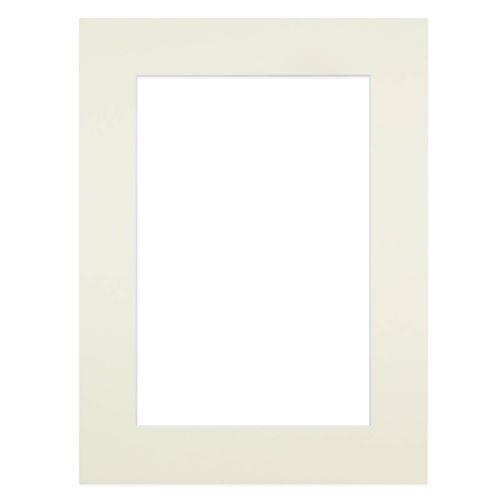 Passe-partout crème 50x70 cm ouverture 40x50 cm, Carton - marque française