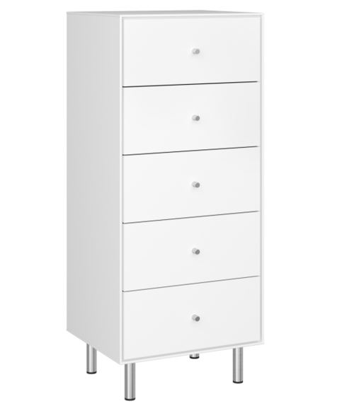 Meuble chiffonnier coloris extra blanc - 111.3 x 47 x 40 cm -PEGANE-