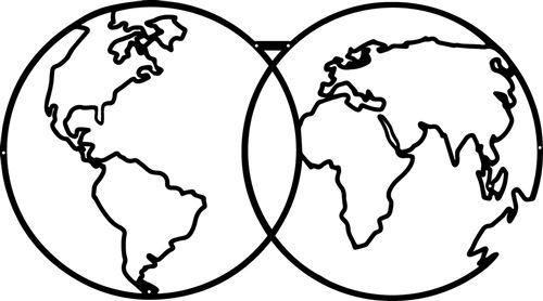 HOMEMANIA Décoration Murale Carte du Monde 9 - Art Mural - - pour Séjour, Chambre, Bureau - Noir en Métal, 60 x 0,15 x 34 cm