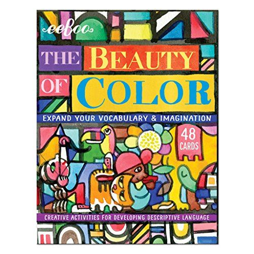 eeBoo Beauty of Color Flash Cards, Vocabulary and Imagination