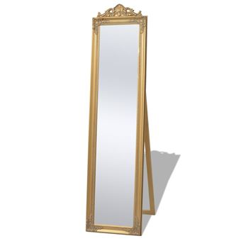 vidaXL Miroir sur pied Style baroque 160 x 40 cm Doré
