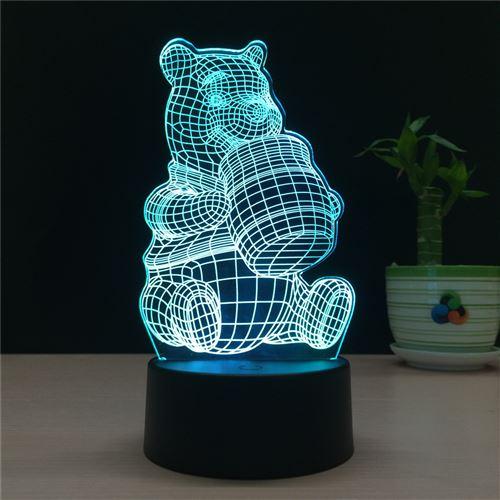 Veilleuse LED 3D Winnie l'ourson DY-69