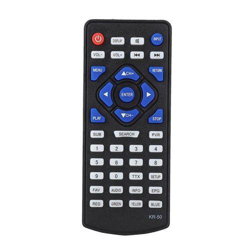 Télécommande de Remplacement pour téléviseur numérique DVB-T2 LEADSTAR KR-50