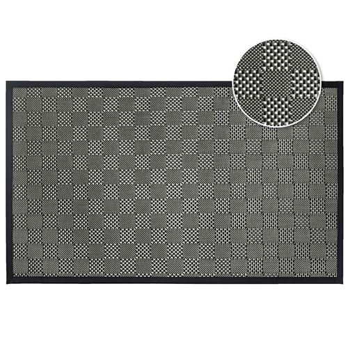Tapis rectangle 45 x 75 cm pvc tisse simeo Noir