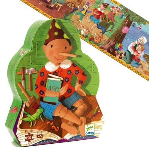 Puzzle Djeco Silhouette Livre Histoire Pinocchio 50 Pcs 5 Ans +