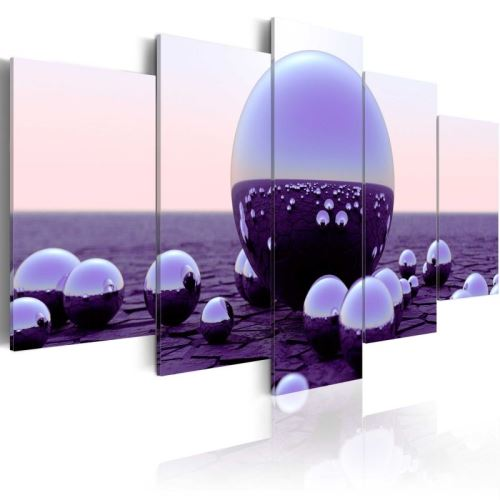 Tableau - Purple Balls .Taille : 200x100