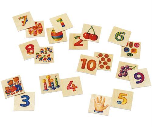 Selecta Spielzeug Numerojeu de mémoire junior bois 20 pièces