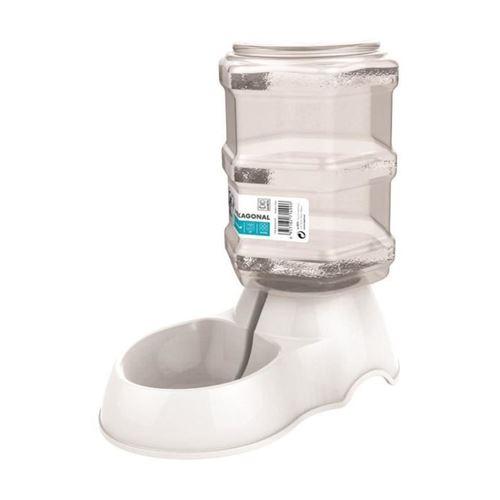 M-pets Distributeur Deau Hexagonal - 3500ml - Blanc - Pour Chien