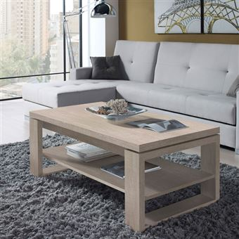 Table Basse Chêne Clair Relevable Reena