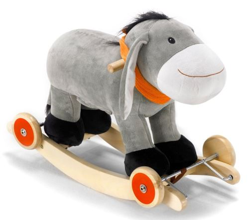Bayer - chic 2000 - 40004 - jouet premier âge - ane à bascule et roulettes bébé