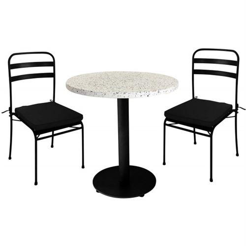 TERRAZZO - Table de repas noire granito