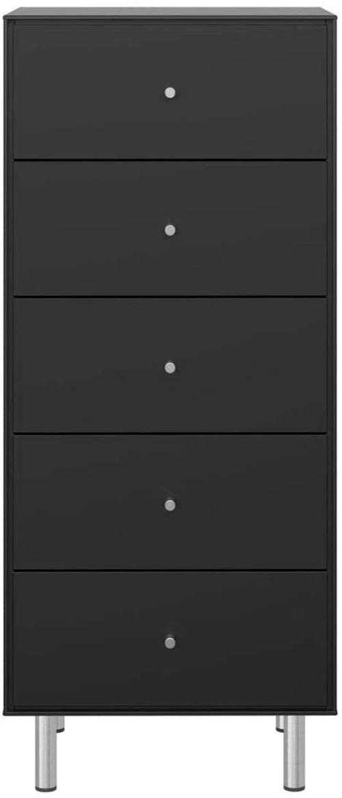 Meuble chiffonnier coloris noir - 111.3 x 47 x 40 cm -PEGANE-