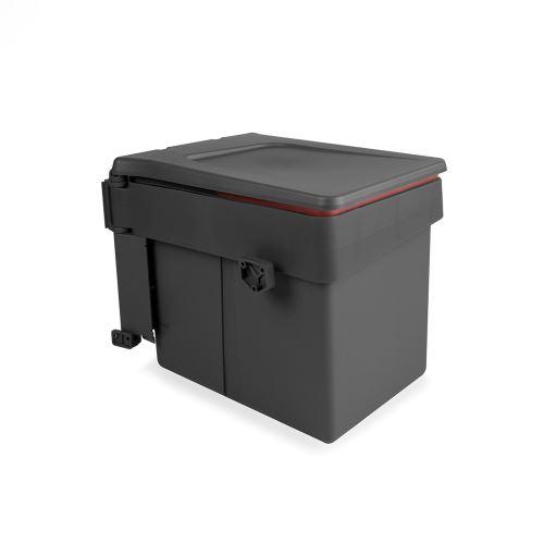 Poubelle de recyclage recycle emuca pour fixation sur porte et conteneur de 15l 8935423