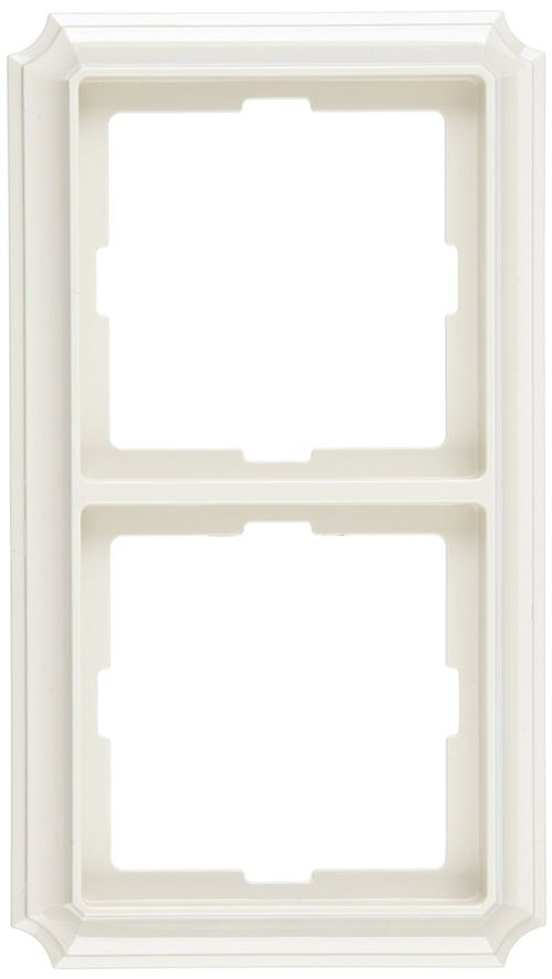 Merten 483244 Plaque double ANTIK Blanc