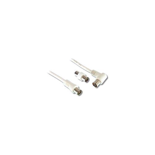 LINEAIRE Câble d'antenne mâle / femelle - 9,5mm - 0m50