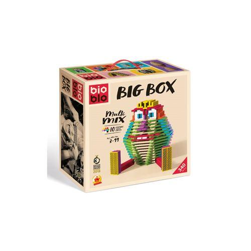BIOBLO Jeu de construction 340 BRIQUES 10 COULEURS BIG BOX Multicolore